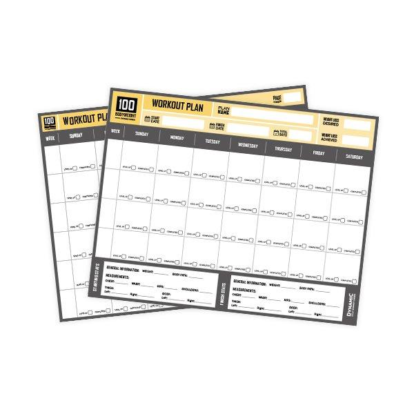 Workout Plan Sheets